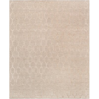 Transitiona Hand-Woven Silk/Wool Beige Area Rug Rug Size: Rectangle 8 x 10