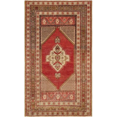 Oushak Hand Woven Wool Coral/Camel Area Rug