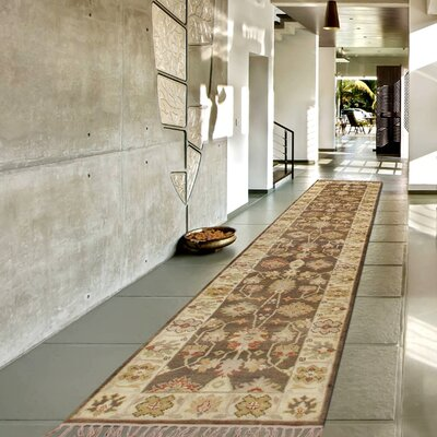 Oushak Hand-Knotted Wool Brown/Beige Area Rug