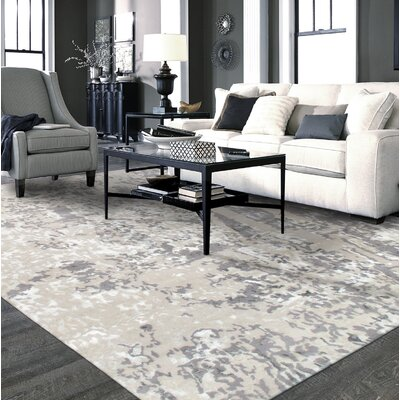 Modern Hand-Knotted Silver/Gray Area Rug