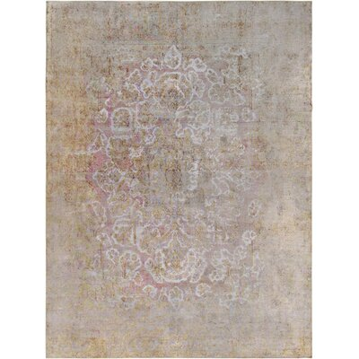 One-of-a-Kind Vintage Overdyes Hand-Knotted Wool Pink/Camel Area Rug
