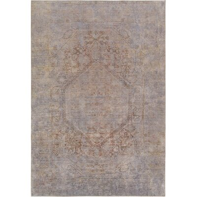 One-of-a-Kind Vintage Overdyes Hand-Knotted Wool Gray Area Rug