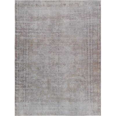 One-of-a-Kind Vintage Overdyes Hand-Knotted Wool Silver Area Rug