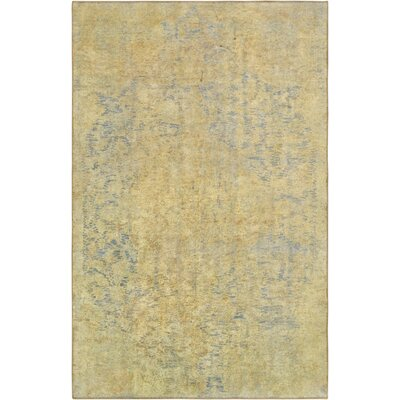 One-of-a-Kind Vintage Overdyes Hand-Knotted Wool Gold/Blue Area Rug