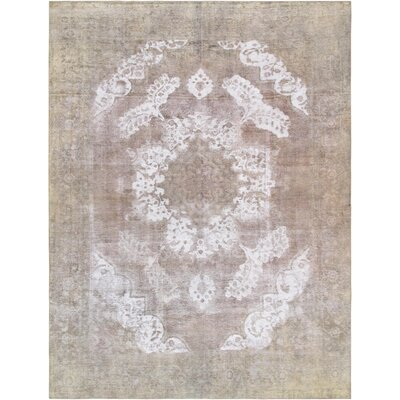 One-of-a-Kind Vintage Overdyes Hand-Knotted Wool Beige/Camel Rug