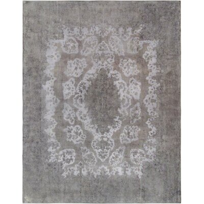 One-of-a-Kind Vintage Overdyes Hand-Knotted Wool Silver/Gray Area Rug