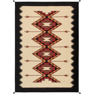 Kilim Hand-Woven Wool Natural Area Rug