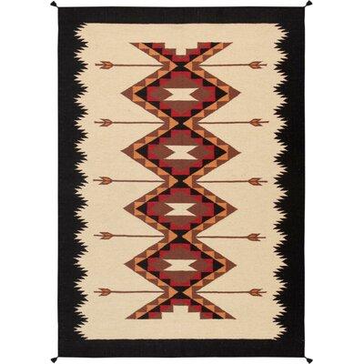 Kilim Hand-Woven Wool Natural Area Rug