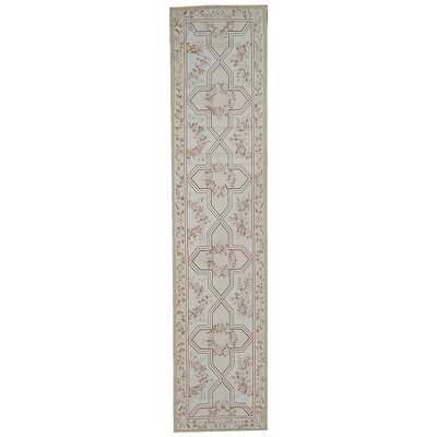 Aubusson Hand-Woven Wool Brown/Gray Area Rug Rug Size: Runner 21 x 123