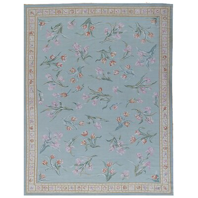 Aubusson Hand Woven Wool Teal/Brown Area Rug Rug Size: Rectangle 9 2 x 1111