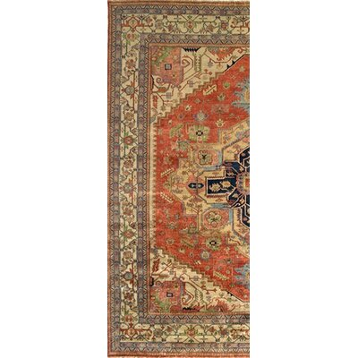 Serapi Hand-Knotted Rust/Ivory Area Rug Rug Size: Rectangle 41 x 6