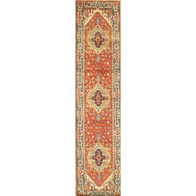 Serapi Hand-Knotted Wool Red Area Rug