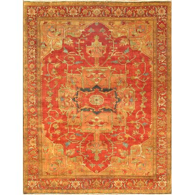 Serapi Tribal Red/Gold Area Rug Rug Size: 9' x 12'