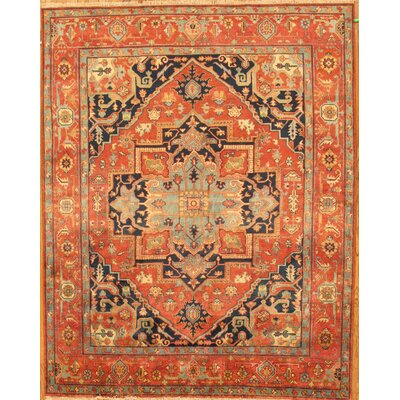 Serapi Tribal Orange Area Rug Rug Size: 4 x 6