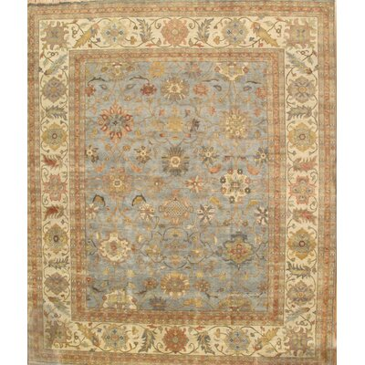 Sultanabad Light Blue/Ivory Area Rug Rug Size: 9 x 12