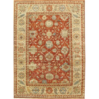 Sultanabad Light Rust/Ivory Area Rug Rug Size: 9 x 12