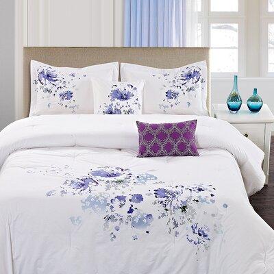 Westgate Floral Spray 5 Piece Comforter Set Size: King