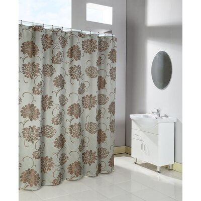 Fantasia Shower Curtain Color: Spa