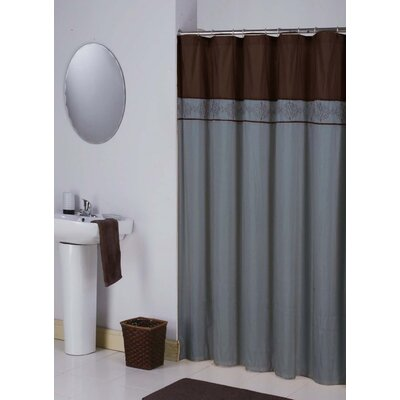 Eastpointe Shower Curtain Color: Mercury/Blue