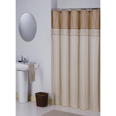 Kerala Shower Curtain Color: Cream/Gold