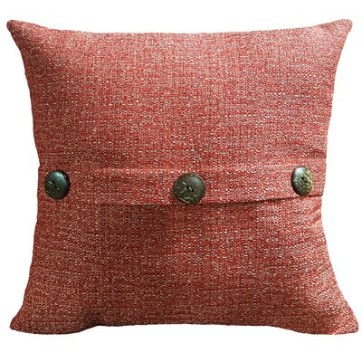 Mason Outdoor Throw Pillow Color: Red