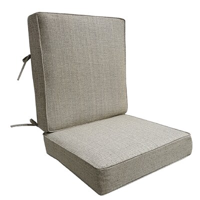 Mason Outdoor Lounge Chair Cushion Color: Linen