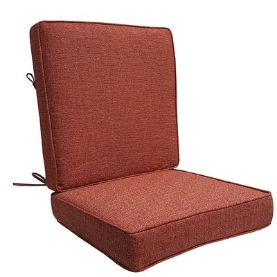 Mason Outdoor Lounge Chair Cushion Color: Red