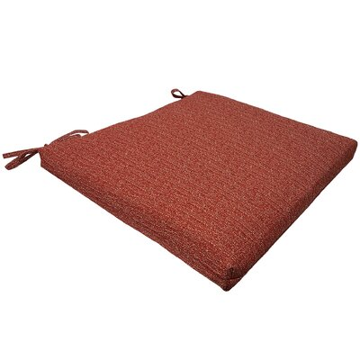 Mason Universal Outdoor Seat Cushion Color: Red
