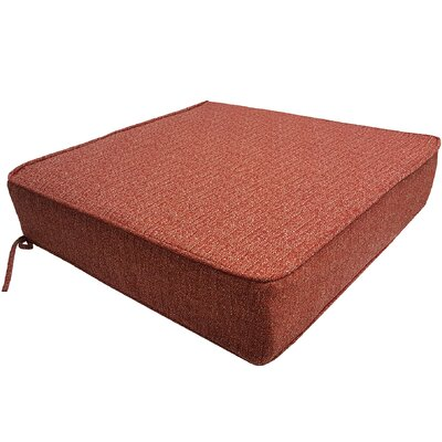Mason Outdoor Deep Seat Bottom Lounge Chair Cushion Color: Red