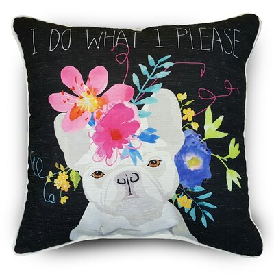 Naro Bulldog Throw Pillow