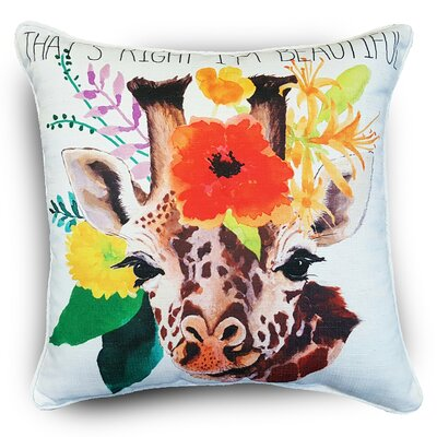 Naro Giraffe Throw Pillow