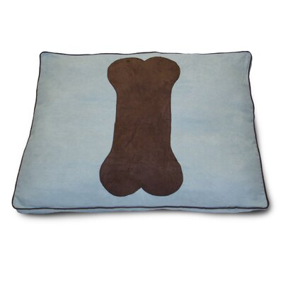 Dog Bone Dog Pillow Color: Powder