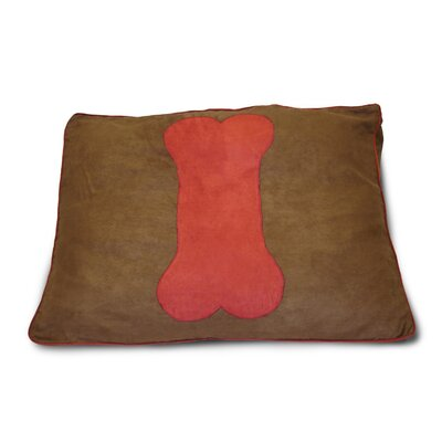 Dog Bone Dog Pillow Color: Cinnabar