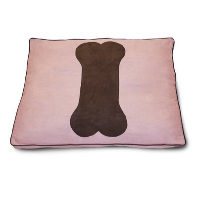 Dog Bone Dog Pillow Color: Pink