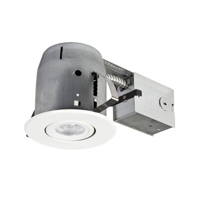 IC Rated Swivel Spotlight 4 LED Recessed Lighting Kit