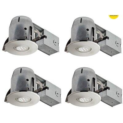 IC Rated Swivel Spotlight LED Recessed Lighting Kit