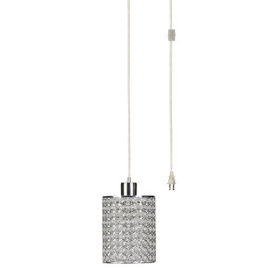 Cylindrical Plug in Drum 1-Light Mini Pendant
