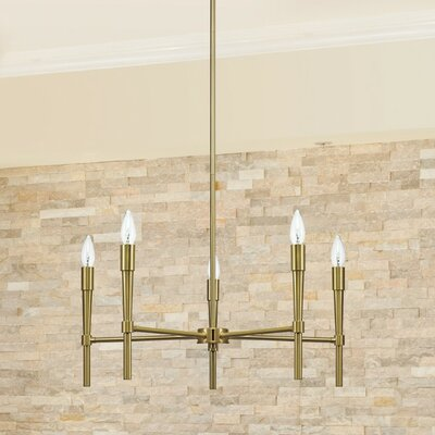 Elena 5-Light Candle-Style Chandelier