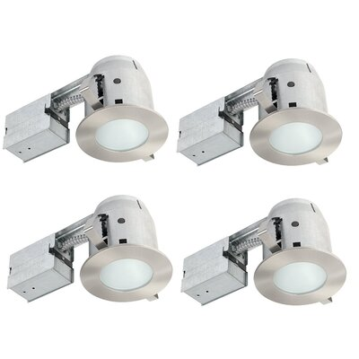IC Rated Bathroom Lighting 4 LED Recessed Lighting Kit