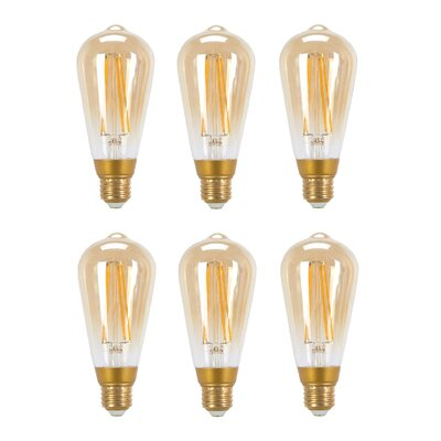 60W Equivalent Soft White (2200K) Vintage Edison Dimmable LED Light Bulb