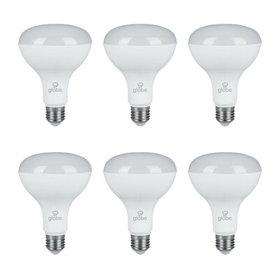 8W E26 LED Light Bulb Pack of 6