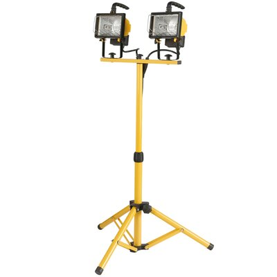 500W Twin-Head Halogen Yellow Work Light