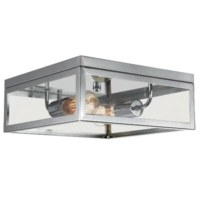 Memphis 2-Light Flush Mount Finish: Chrome