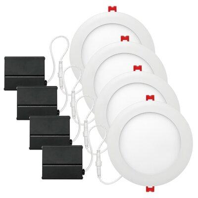 6 Integrated Ultra Slim LED Recessed Lighting Kit
