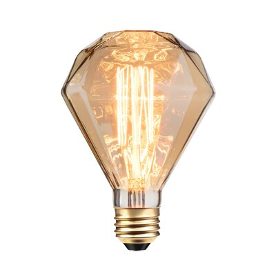 40W Amber E26/Medium Incandescent Light Bulb
