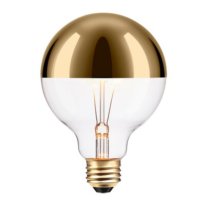 40W Amber 26/Medium Incandescent Light Bulb Hardware Color: Gold