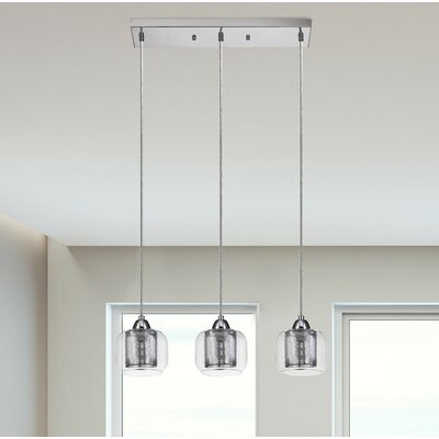 Pirton 3-Light Kitchen Island Pendant