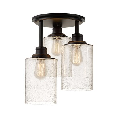 Leedom 3-Light Semi-Flush Mount