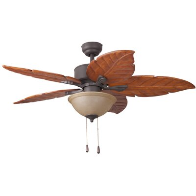 52 St. Marks Bowl Light 5-Blade Ceiling Fan