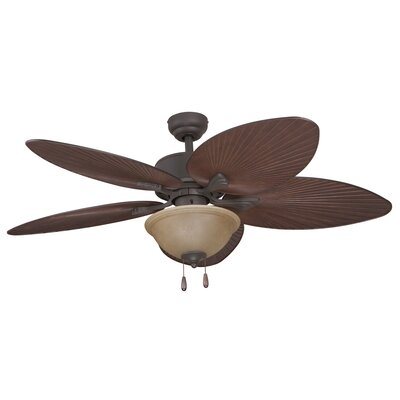 52 Palmira Bowl Light 5-Blade Ceiling Fan Finish: Bronze